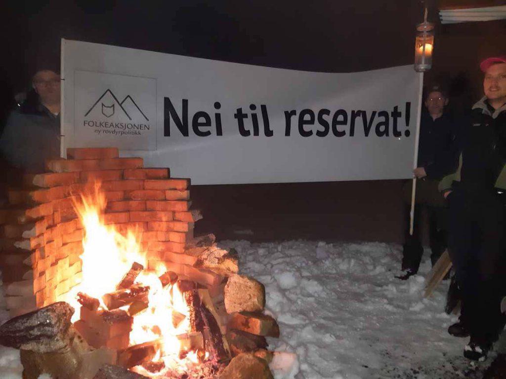 Naturbruksalliansen med ulveprotest tirsdag.